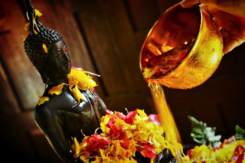 Washing Buddha for Songkran: Asia in April
