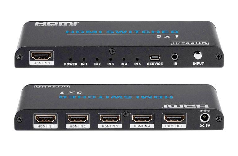 Monoprice Blackbird Pro 4K 5x1 HDMI Switcher