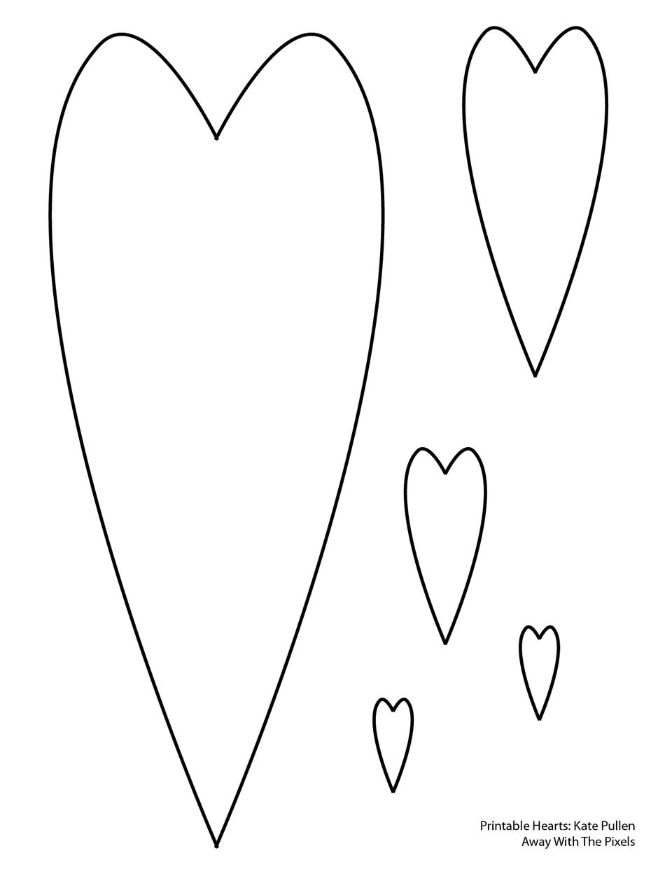 This is an image of Unforgettable Printable Heart Pattern