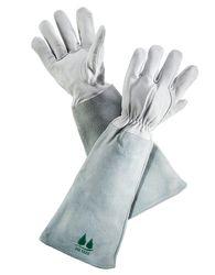 best garden gloves. Best Full-Arm Coverage: Fir Tree Leather Gardening Gloves With Gauntlet Garden