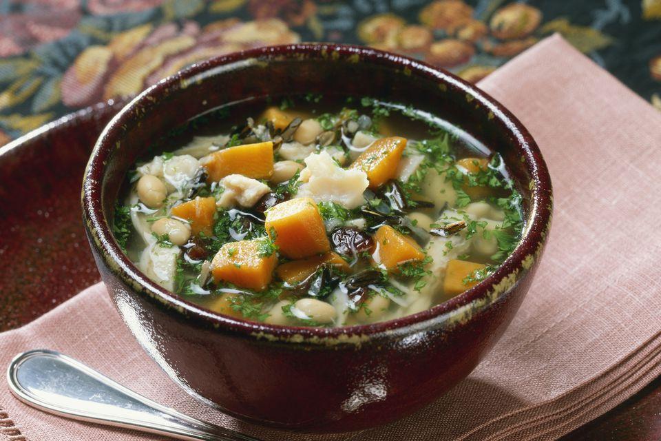 ground turkey soup, crock pot
