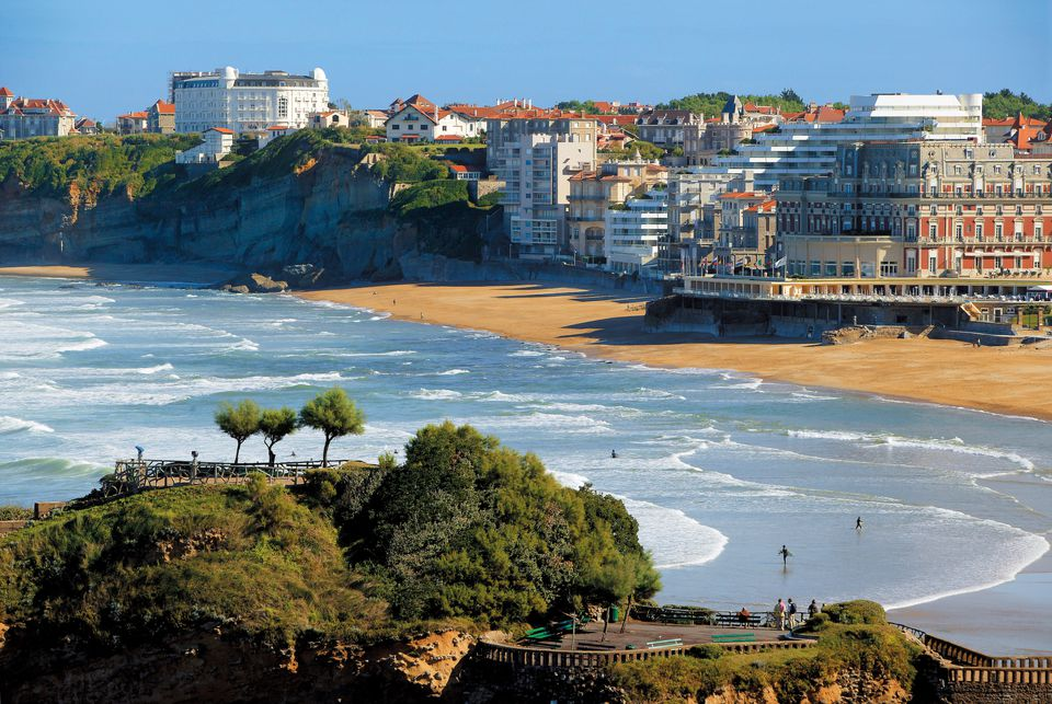 The Grand Plage at Biarritz on the French Atlantic coast