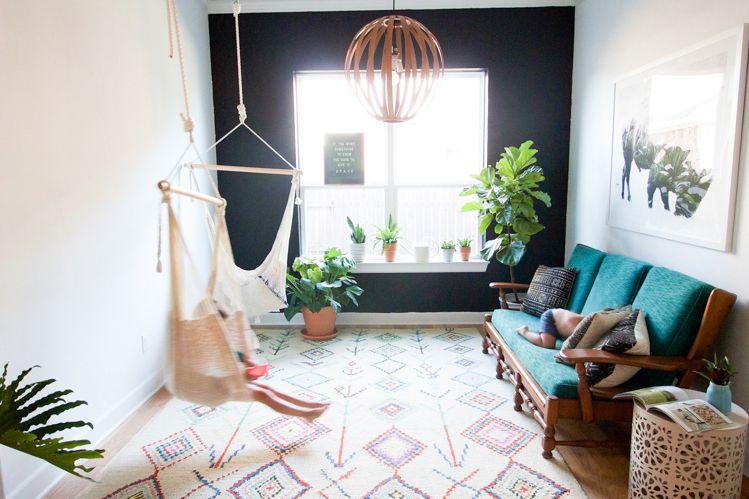 Living Room Turned Patio Indoor Hammock