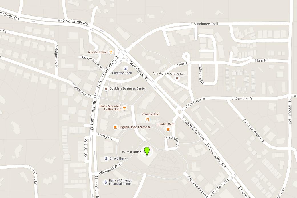 Carefree Arizona Map With Directions Address