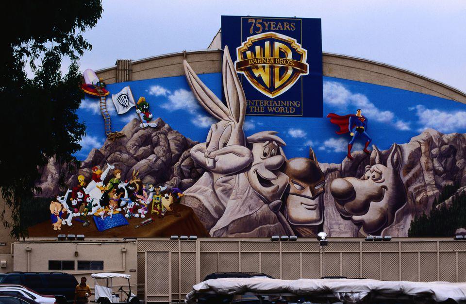 Warner Brothers Studio mural - Los Angeles, California