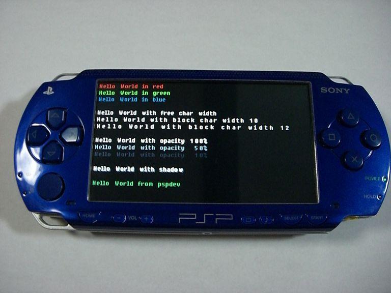 homebrew PSP