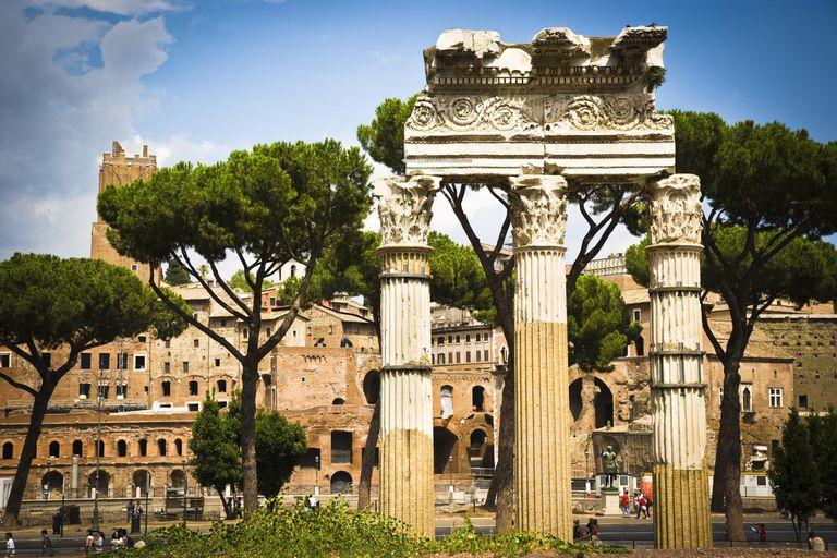 Corinthian columns, Roman Forum, Rome, Italy