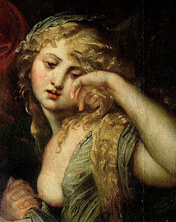 Deposición de Jesús por Pedro Pablo Rubens (Detalle de María Magdalena)