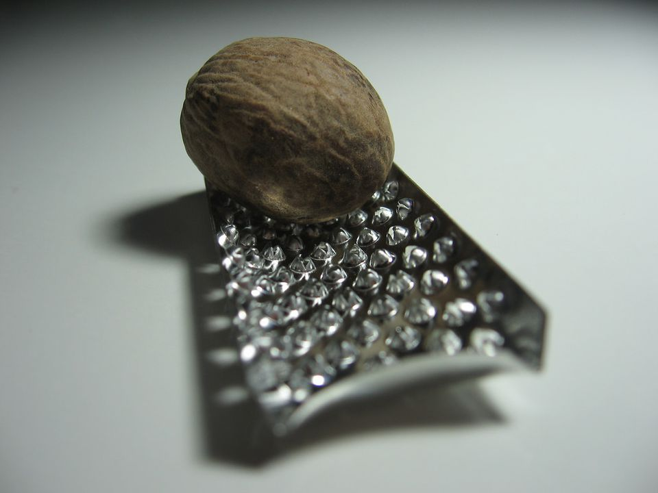 Whole Nutmeg and Grater