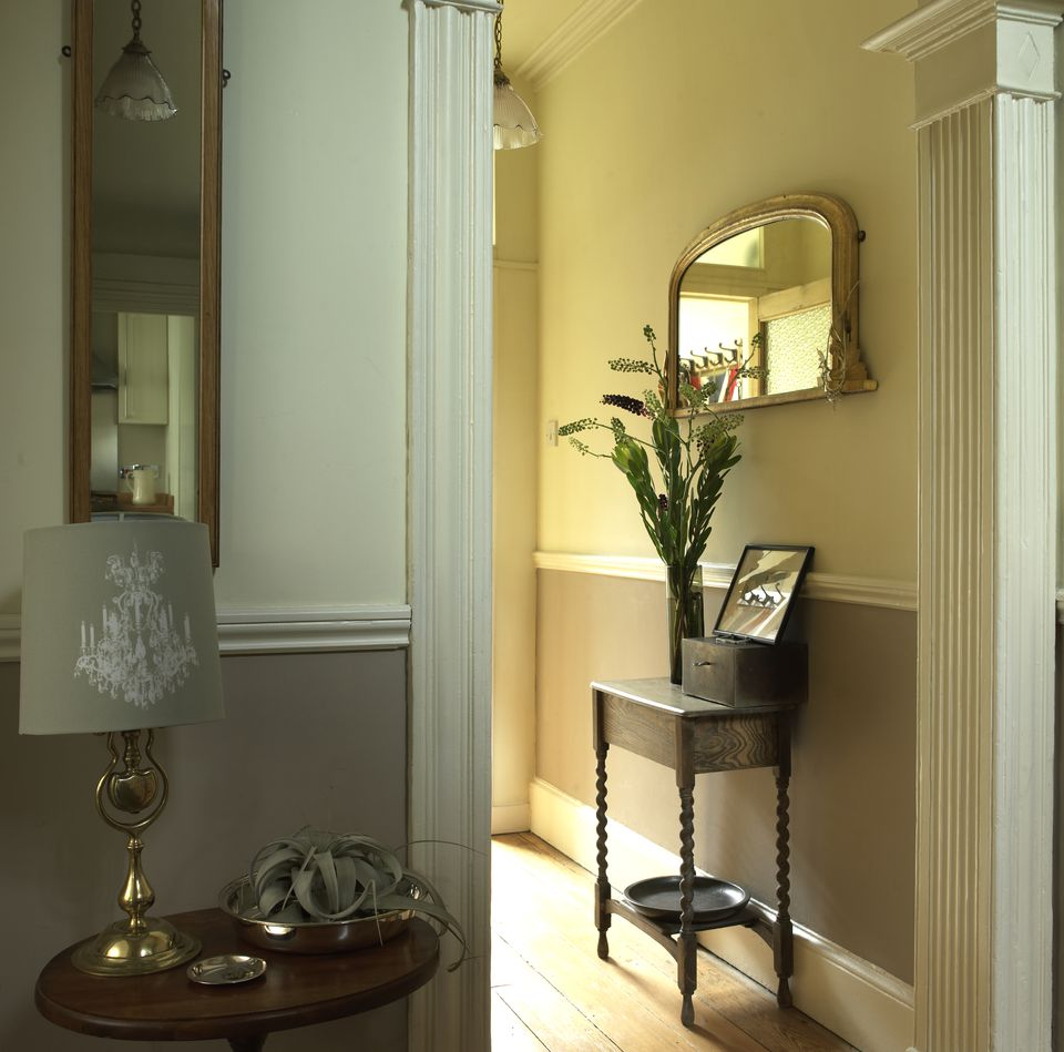 Fluted Doorframe in Corridor