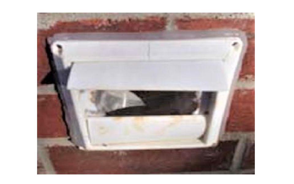 Broken dryer vent