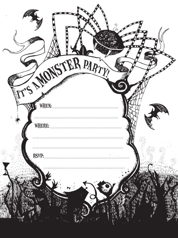21 free halloween invitations that you can print stopboris Image collections