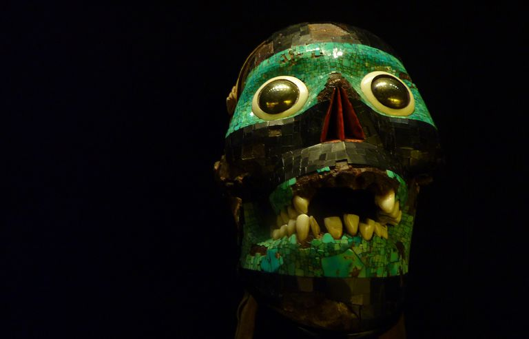 The Skull of the Smoking Mirror, Cult Representation of Tezcatlipoca, on display at the British Museum