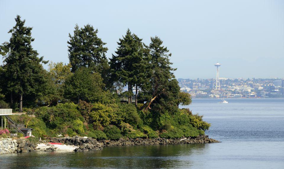 Bainbridge Island, opposite of Seattle across the Puget Sound
