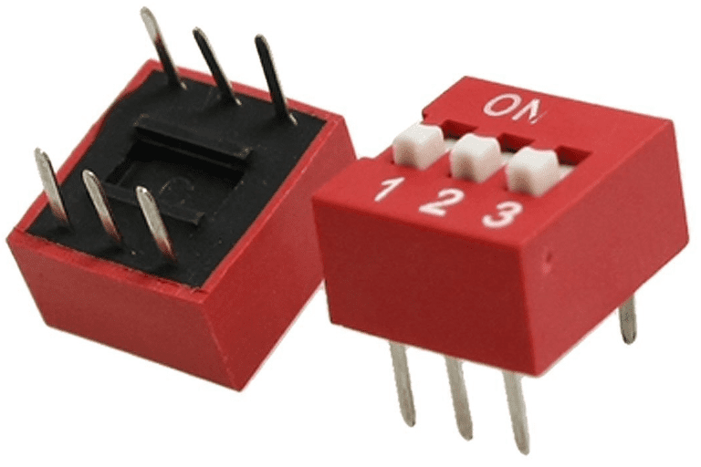 Picture of a TOOGOO(R) slide-style dip switch