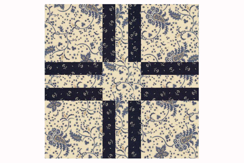 Cross Five Quilt Block Pattern