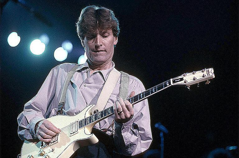 English singer, songwriter and guitarist Steve Winwood performing on stage, 1988.