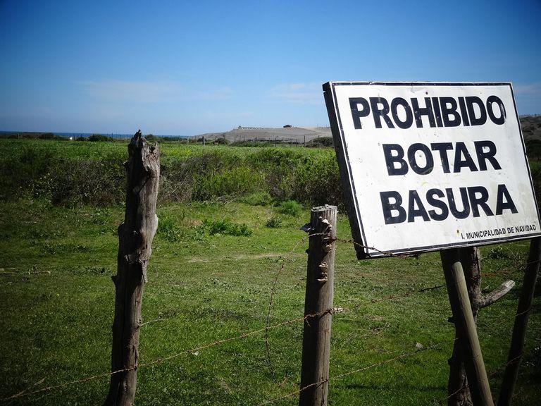 Prohibido botar basura