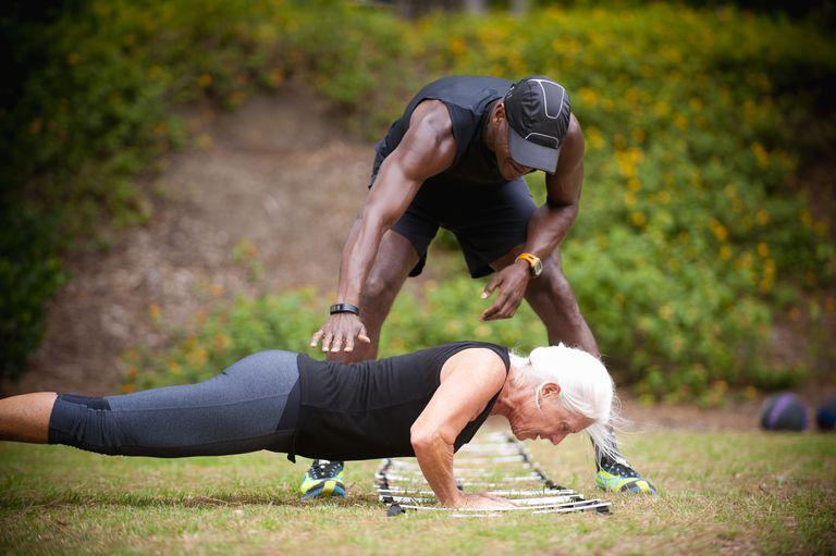 'senior' woman, individual fitness coaching