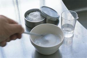 baking soda mixture in a bowl