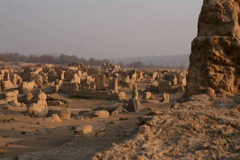 Ruins of the Jiaohe City in the Turpan Oasis