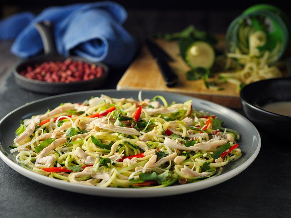 Bang bang chicken & vegetable noodles