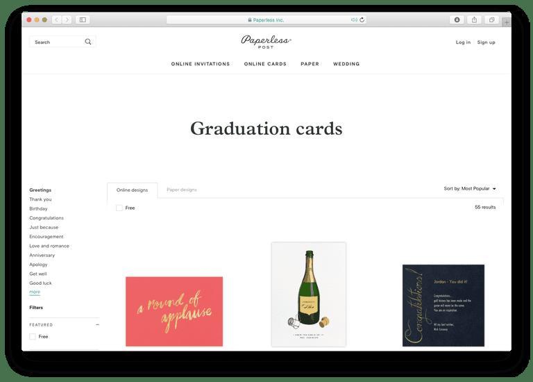 Paperless Post Graduation Cards