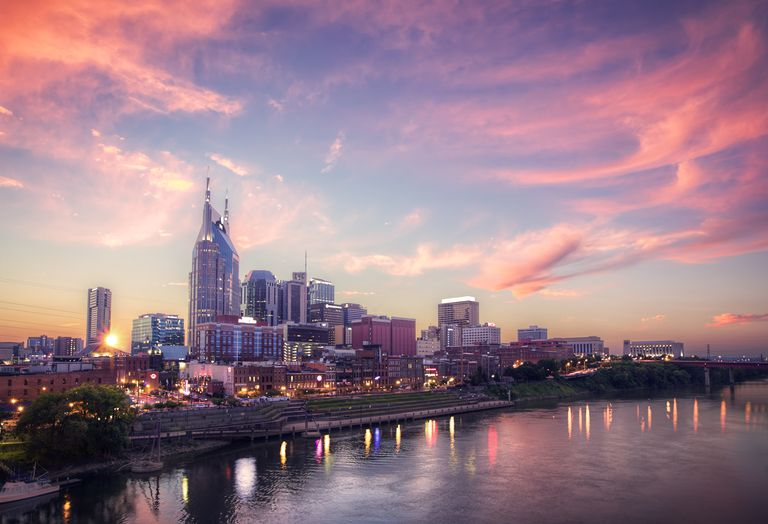 Sunset over Nashville