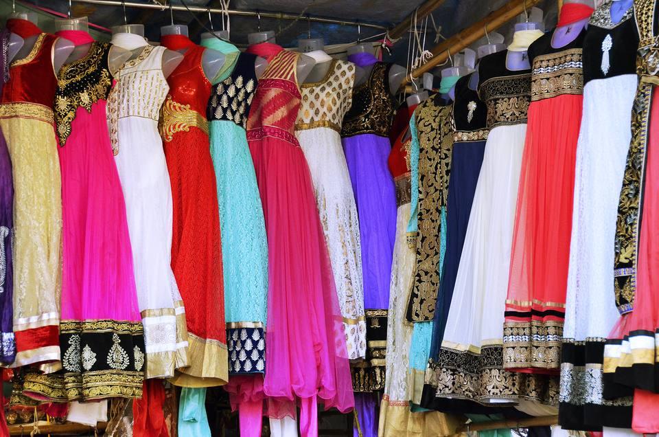 Indian dresses on Linking Road, Bandra.