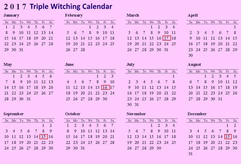 2017 triple witching calendar