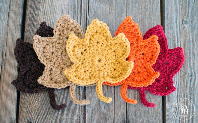 Classic Autumn Leaves Free Crochet Pattern