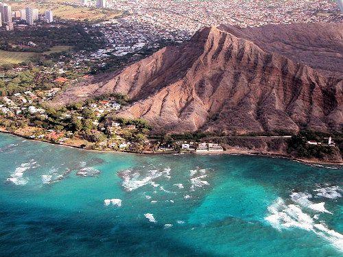 Diamond Head Crater in Honolulu, Hawaii