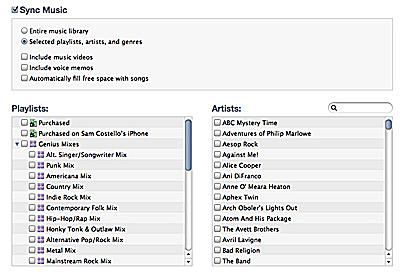 downloading songs to the ipad