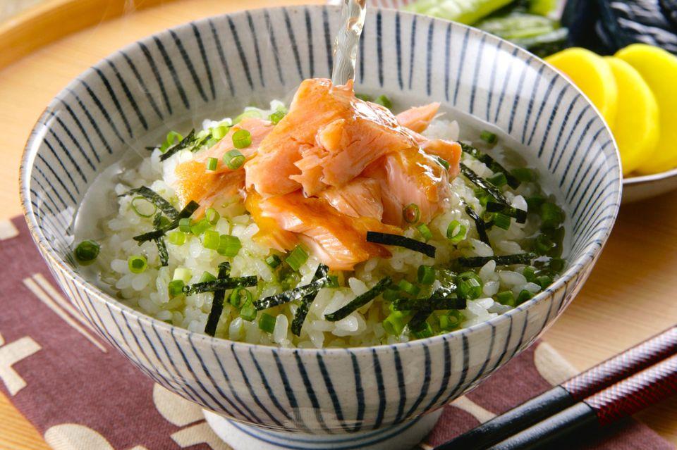 Salmon Ochazuke (Japanese Rice with Green Tea)