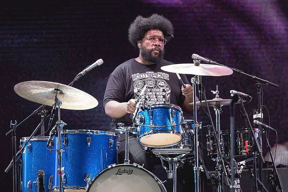 Drummer Questlove of The Roots performs onstage in support of Usher during the Formula 1 USGP at Circuit of The Americas on October 23, 2016 in Austin, Texas.