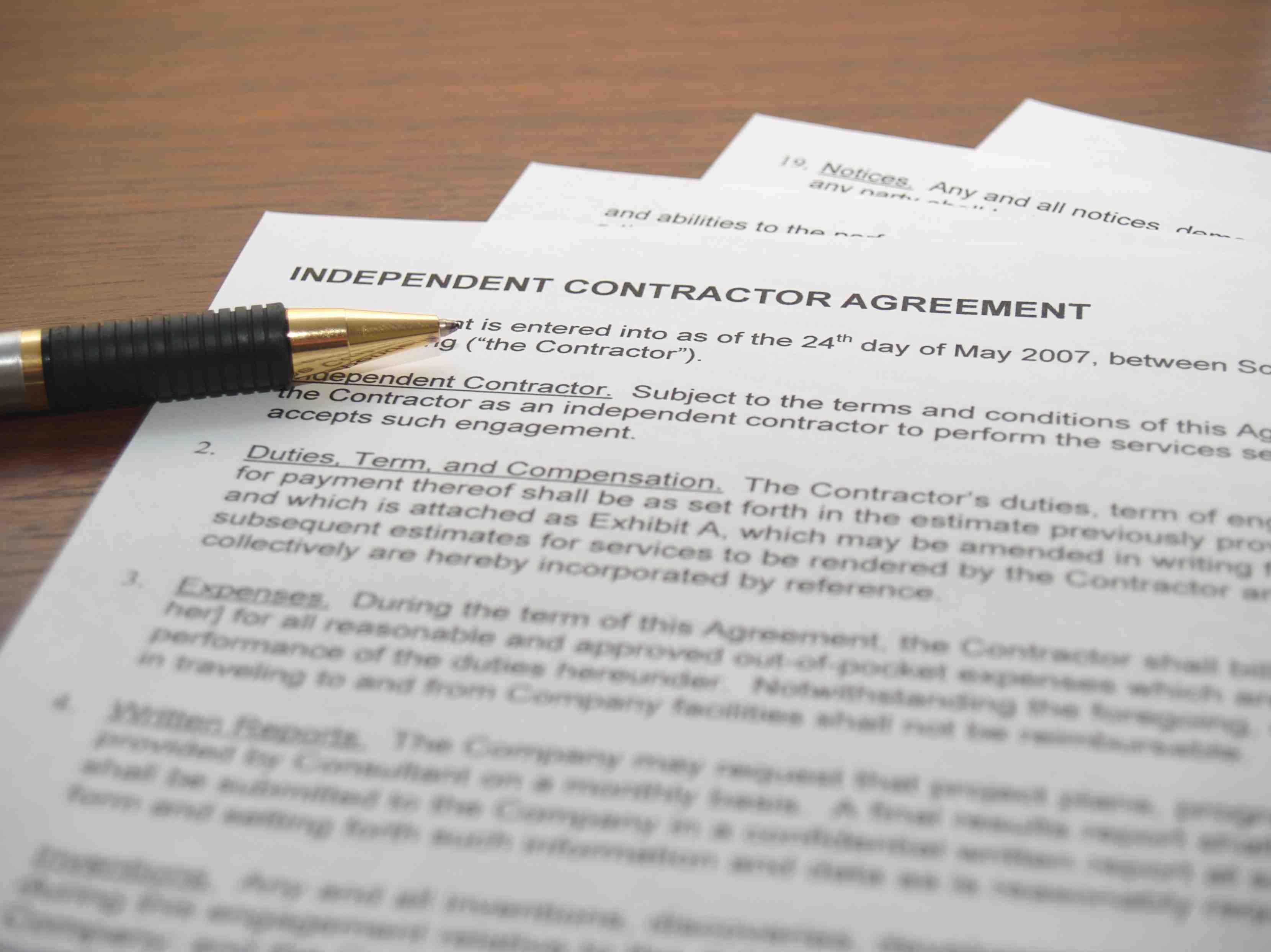 Hiring and paying an independent contractor platinumwayz