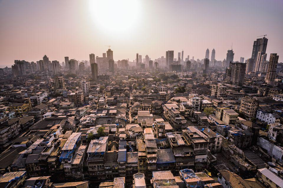 Mumbai cityscape at Grant Road Station, India