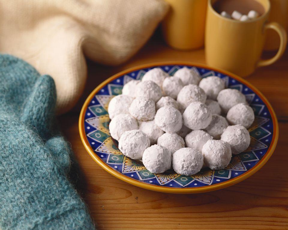 Walnut Balls andHot Chocolate