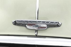 Chevrolet Logo on Car Hood