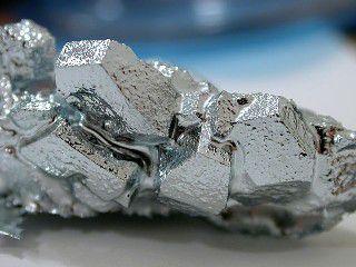 Pure gallium has a bright silver color.