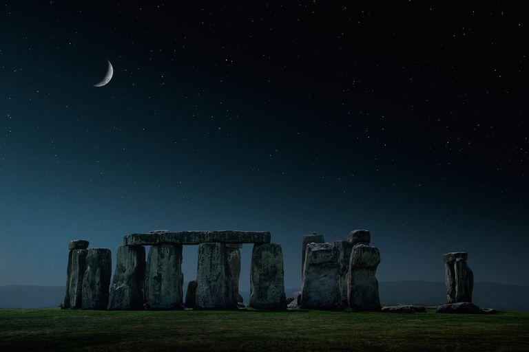 Crescent moon Stonehenge