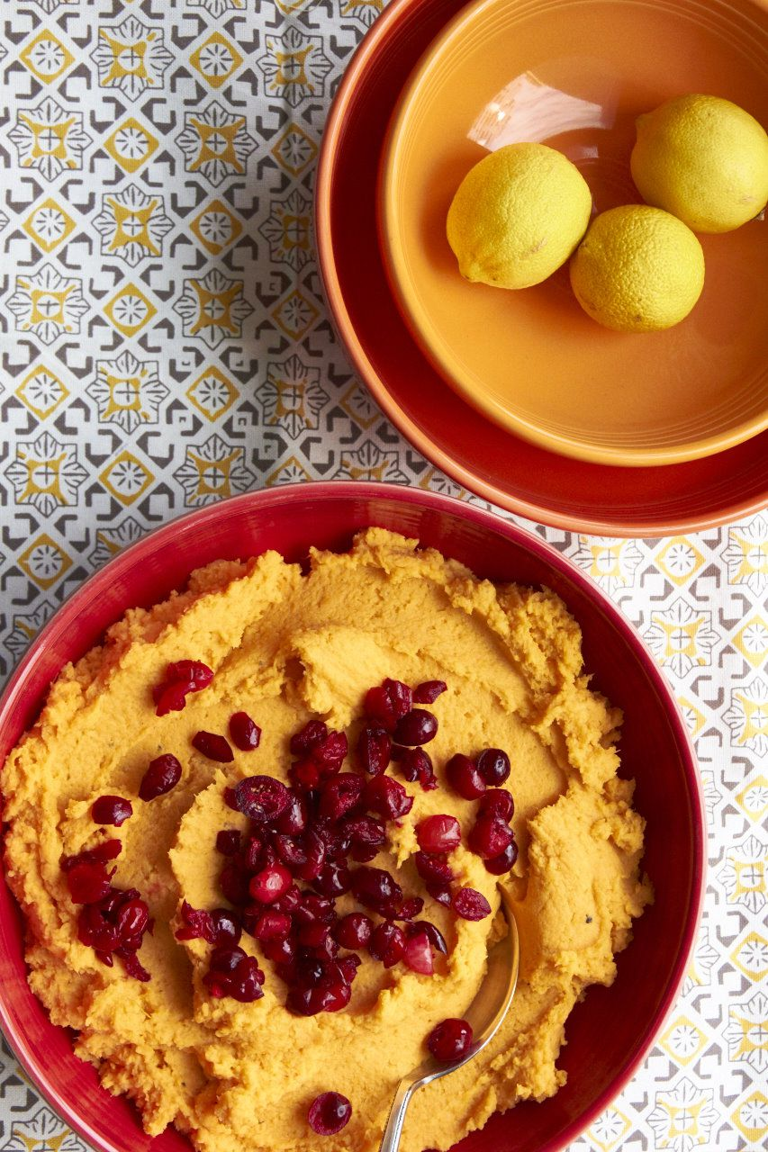 Mashed Sweet Potatoes with Orange Juice and Cranberries / Sarah Crowder / Katie Workman / themom100.com