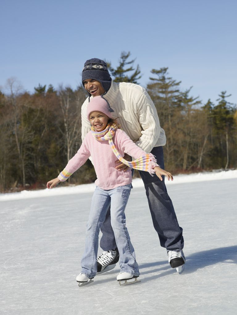 A Young Ice Skater Attempts Forward Swizzles