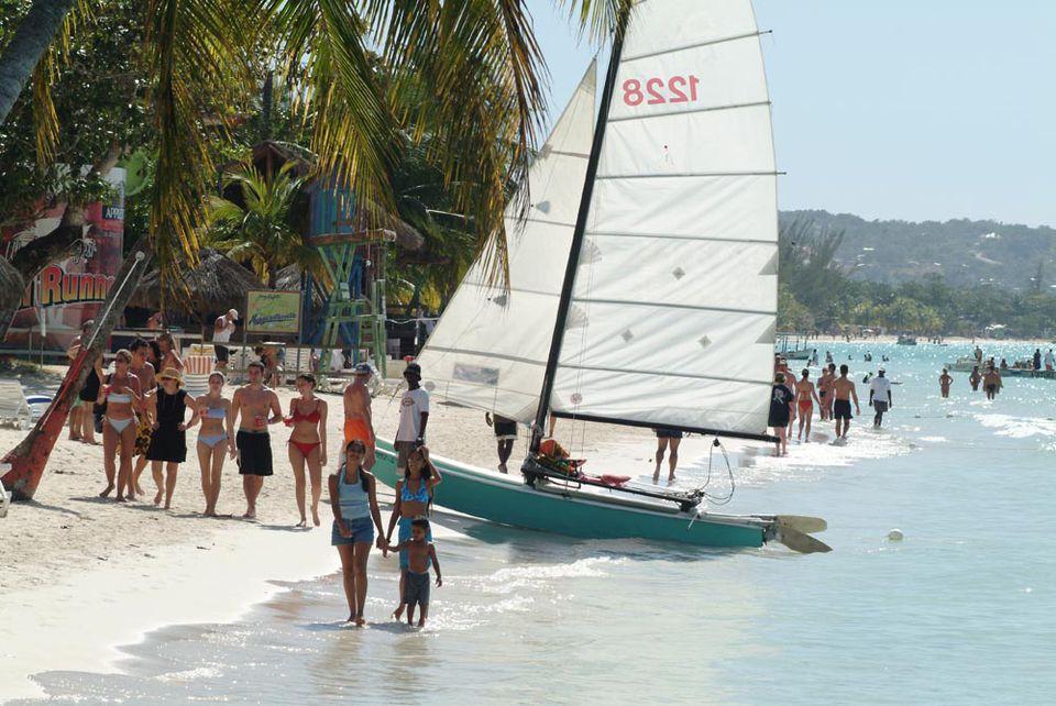 Seven Mile Beach in Negril, Jamaica