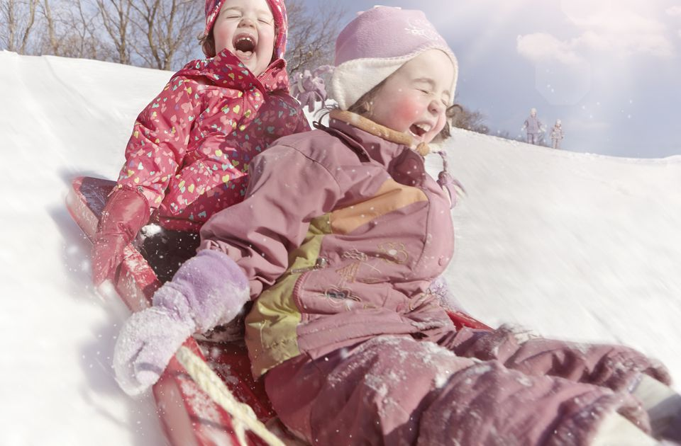 Children Tobogganing