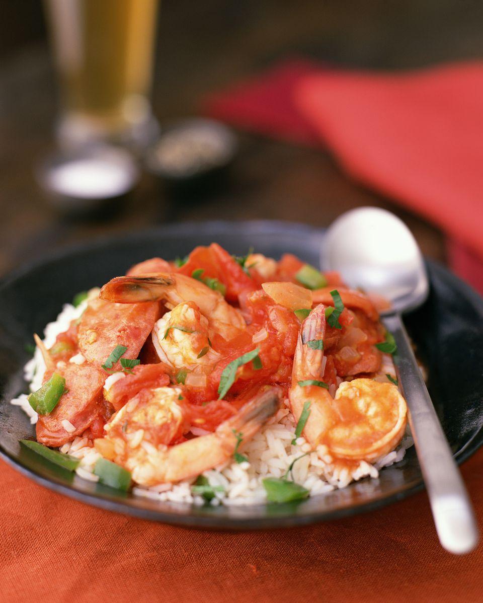 Creole shrimp entree