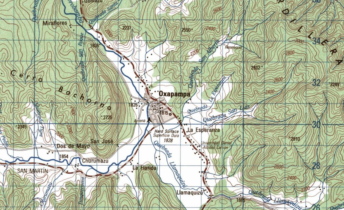 Free Topographic Maps of Peru (1:100,000)