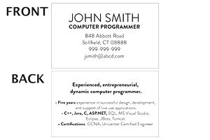 Mini Resume Template and Examples