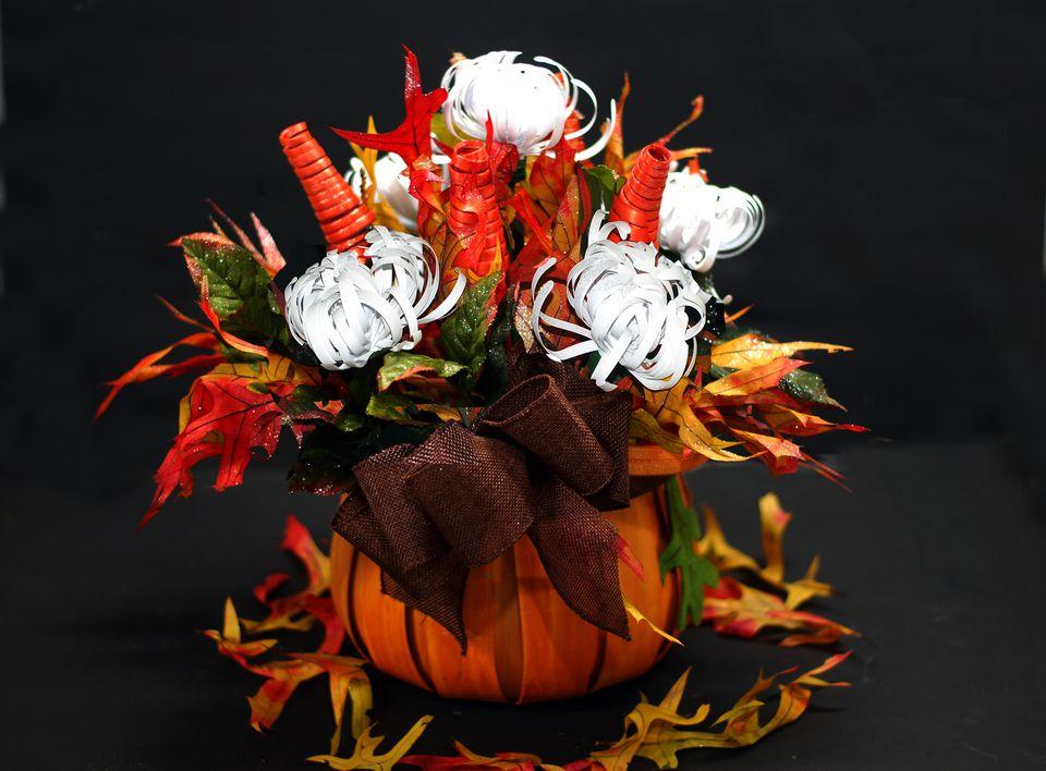 fall paper flower arrangements
