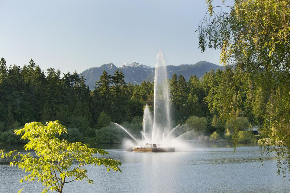 Lost Lagoon Fountain, Stanley Park, Vancouver, B.C., Canada